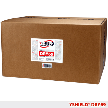 Экранирующая сухая смесь (штукатурка) YSHIELD DRY69_shielding-dry-mix-powder-yshield-dry69-emr-protection-information-security